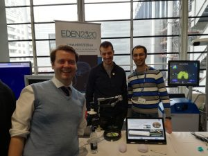 Ferdinando with team at the EDEN science station