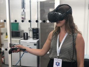 Marlene wearing virtual headset