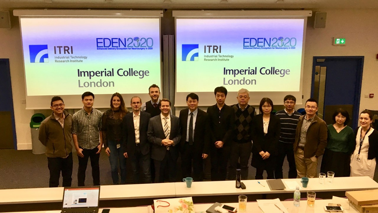 The EDEN team with ITRI team in front of a lecture theatre