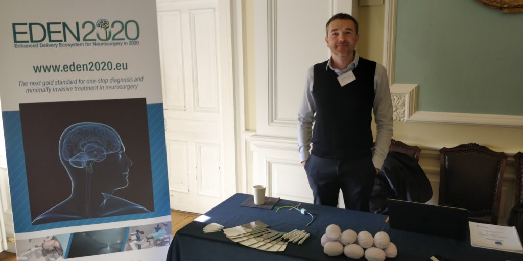 Dr Riccardo Secoli with the EDEN2020 pop-up station