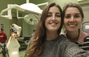 Marlene (left) and Eloise (right) after a long day of system testing at the EDEN2020 clinical partner site in Lodi, Italy.
