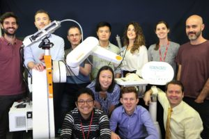 Part of the EDEN2020 team at the Mechatronics in Medicine Laboratory at Imperial College London.